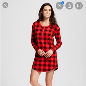 Xhileration • Buffalo Plaid Sleep Dress